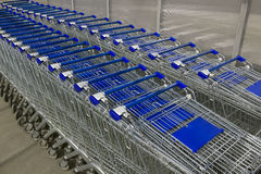 Empty shopping carts Royalty Free Stock Image