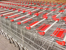 Empty shopping carts Stock Photo