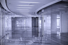 Empty Shopping Center (Duotone) Royalty Free Stock Images