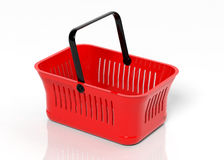 Empty shopping hand basket Stock Image