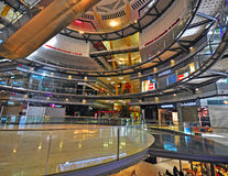 Empty shopping mall in Barcelona, Spain. BARCELONA, SPAIN - JANUARY 18: Interior of the Arenas shopping centre in Barcelona on January 18, 2015. Barcelona is the Royalty Free Stock Photo