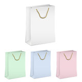 Empty shopping paper bags Stock Photo