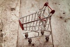 Empty shopping trolley Stock Photos