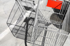 Empty shopping trolley Stock Photography