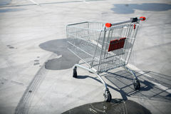 Empty shopping trolley Royalty Free Stock Photography