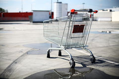 Empty shopping trolley Stock Images
