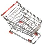 Empty Shopping Trolley Cutout Stock Photography