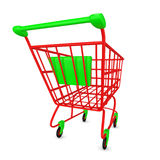 Empty Shoppingcart Royalty Free Stock Photography
