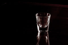Empty shot glass Royalty Free Stock Images
