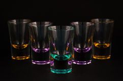 Empty shot glasses Royalty Free Stock Image