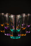Empty shot glasses Stock Photo