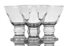 Empty shot glasses Stock Images