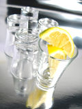 Empty shots with lemon Royalty Free Stock Image