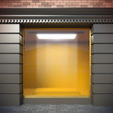 Empty showcase. A 3D illustration of empty showcase in classical style Stock Photography