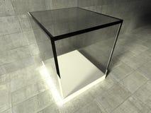 Empty showcase, 3d exhibition space Stock Photo