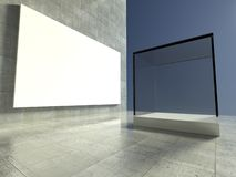 Empty showcase, 3d exhibition space Stock Image