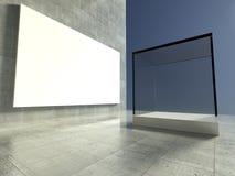 Empty showcase, 3d exhibition space Stock Image