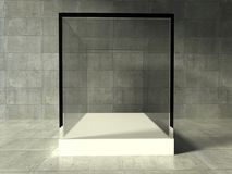 Empty showcase, 3d exhibition space Royalty Free Stock Image