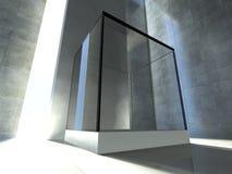 Empty showcase, 3d exhibition space vector illustration