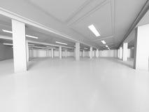Empty showroom 3D rendering Royalty Free Stock Photos