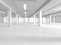 Empty showroom 3D rendering Stock Images