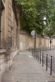 Empty Sidewalk in Paris Royalty Free Stock Photography