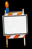 Empty sidewalk sign. An empty sidewalk sign. Isolated, with clipping path Royalty Free Stock Photo