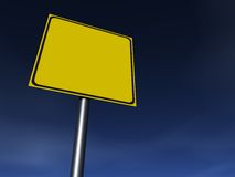 Empty Sign. Empty traffic sign. Fill it for your needs Royalty Free Stock Photos