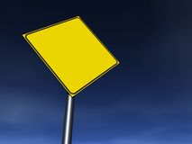 Empty Sign. Empty traffic sign. Fill it with your graphics Stock Photos