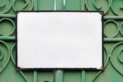 Empty sign. With black frame stock images
