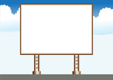 Empty sign. Empty Ads. Sign. On The Road View Royalty Free Stock Image