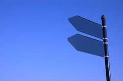 Empty sign and blue sky. Photo empty sign on the blue sky Royalty Free Stock Photo