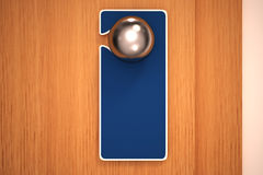 Empty sign on a door knob Stock Photography