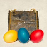 Empty sign, easter eggs Stock Photography