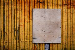 Empty sign - free copy space - grungy Royalty Free Stock Image