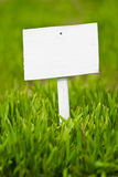 Empty sign on green grass Stock Image