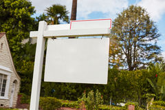 Empty sign on house for rent or lease Stock Image