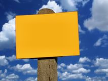 Empty sign post Royalty Free Stock Image