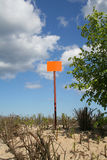 Empty sign post against the sky Royalty Free Stock Photography