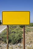 Empty sign at roadside Royalty Free Stock Photos
