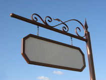 Empty sign on a street Stock Photo