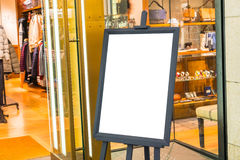 Empty sign in the street and shopping mall . Royalty Free Stock Image