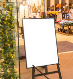 Empty sign in the street and shopping mall . Stock Image