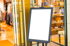 Empty sign in the street and shopping mall . Stock Photography