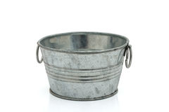 Empty silver bucket Royalty Free Stock Photos