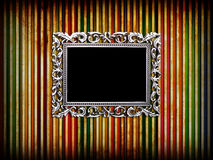 Empty silver frame Stock Photography