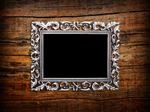 Empty silver frame Royalty Free Stock Photo