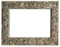 Empty silver frame Royalty Free Stock Photos