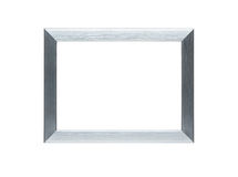 Empty silver frame with clipping path Stock Photo