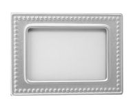 Empty silver picture frame Stock Photo